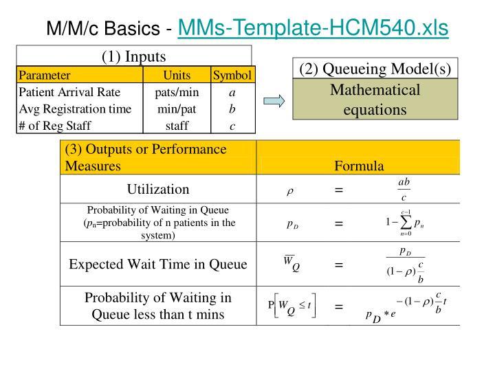 M/M/c Basics -