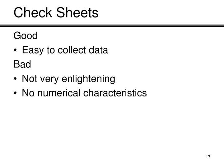 Check Sheets