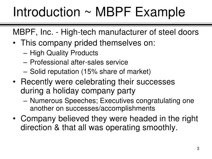 Introduction ~ MBPF Example