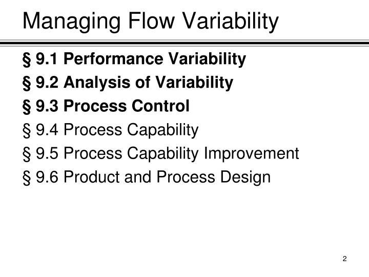 Managing Flow Variability