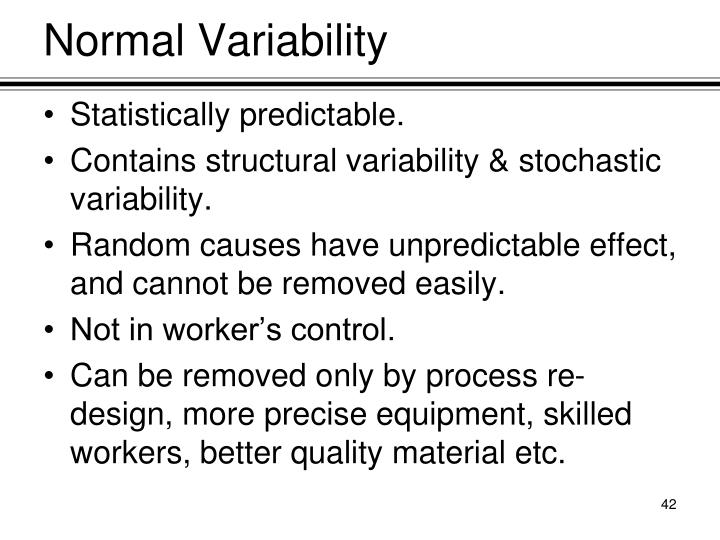 Normal Variability