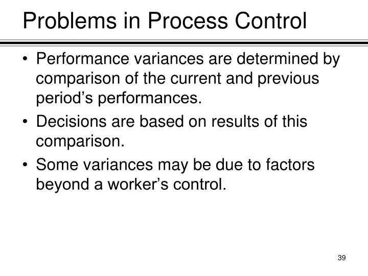 Problems in Process Control