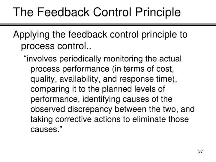 The Feedback Control Principle