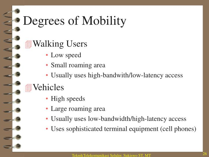 Degrees of Mobility