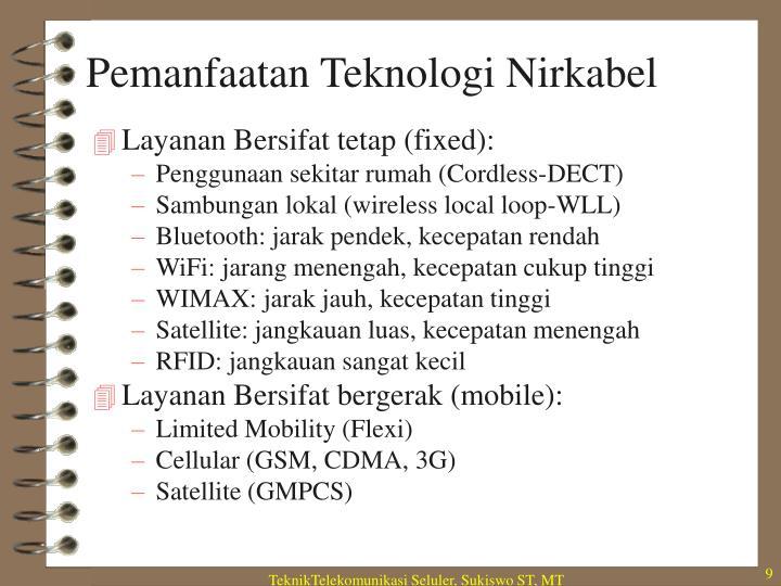 Pemanfaatan Teknologi Nirkabel