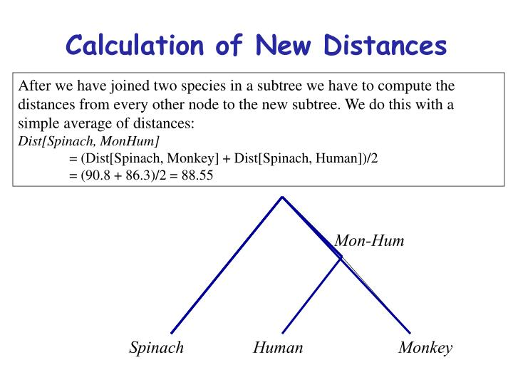 Calculation of New Distances