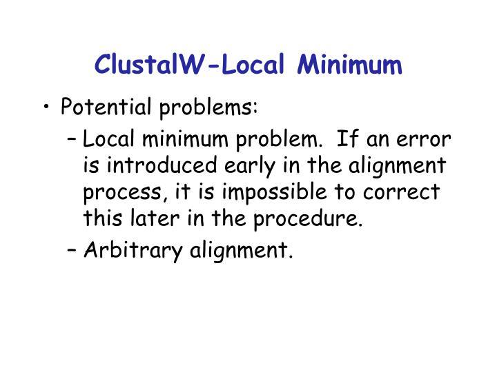 ClustalW-Local Minimum