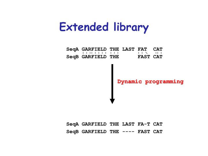 Extended library
