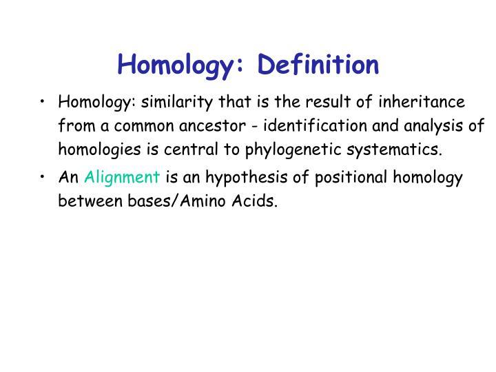 Homology: Definition