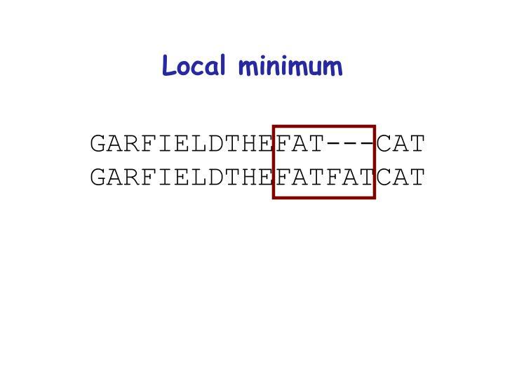 Local minimum