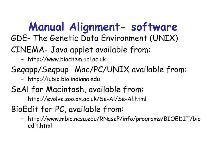 Manual Alignment- software