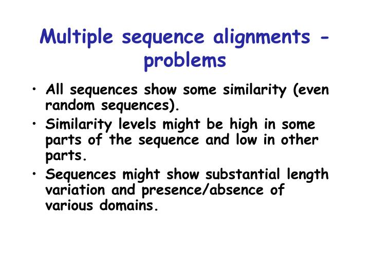 Multiple sequence alignments - problems