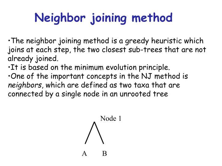 Neighbor joining method