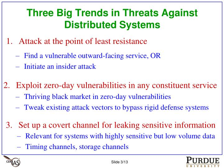 Three Big Trends in Threats Against Distributed Systems