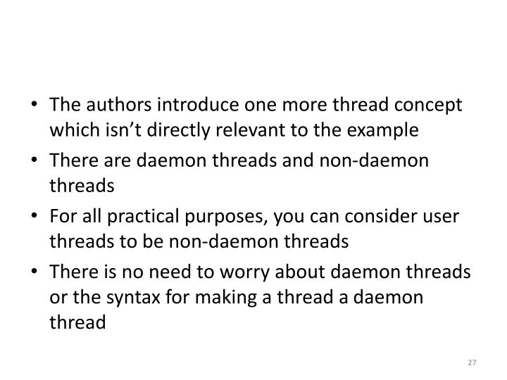 The authors introduce one more thread concept which isn't directly relevant to the example