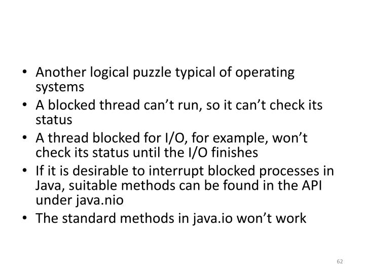 Another logical puzzle typical of operating systems