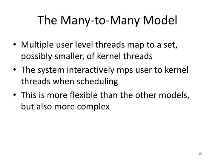 The Many-to-Many Model