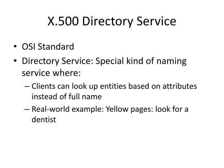 X.500 Directory Service