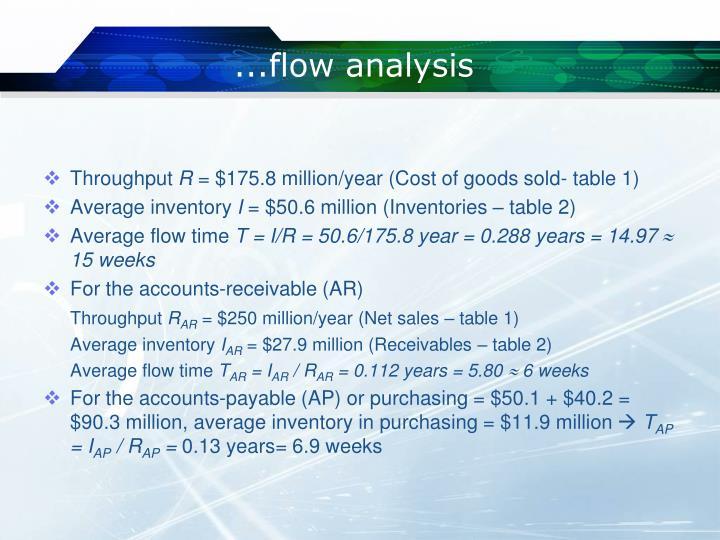 ...flow analysis