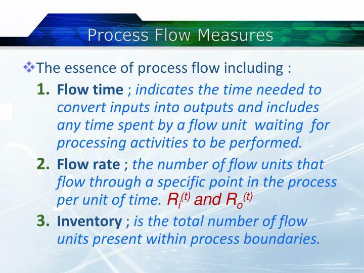 Process Flow Measures