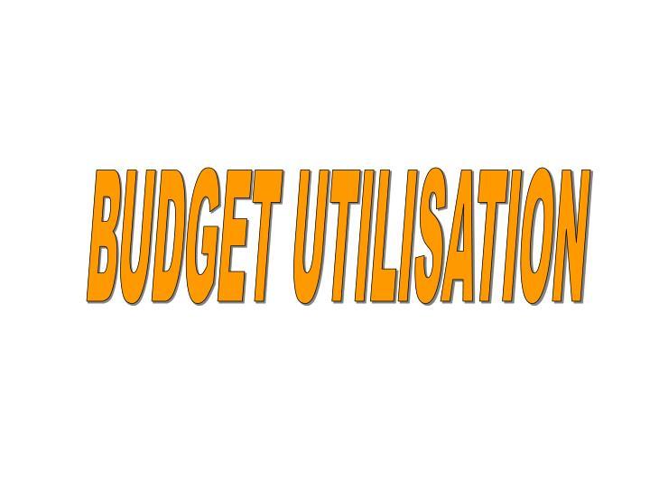 BUDGET UTILISATION