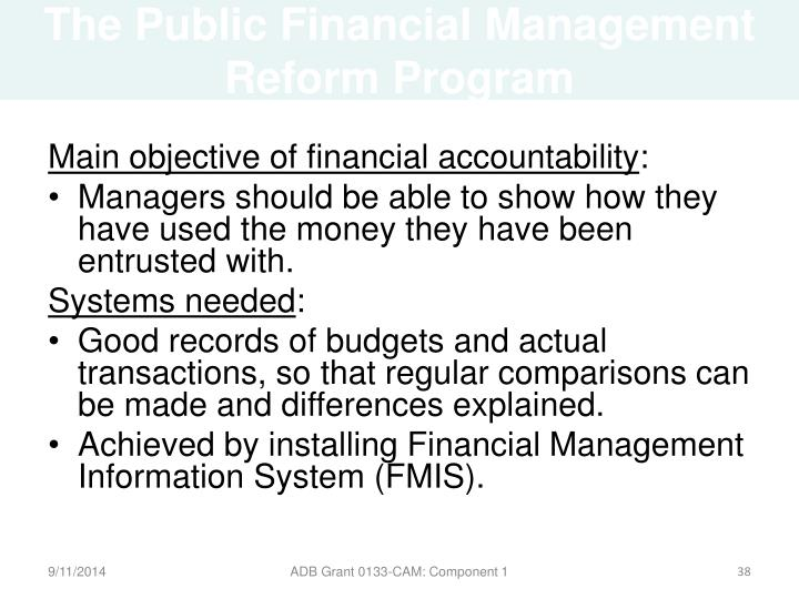 The Public Financial Management