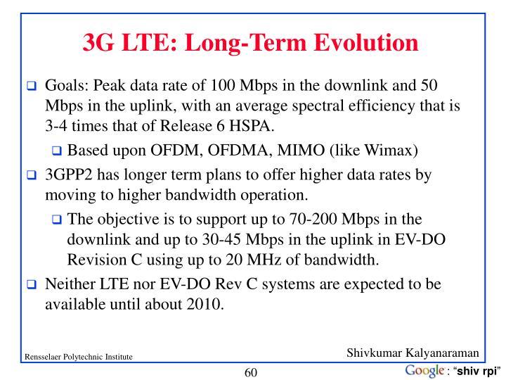 3G LTE: Long-Term Evolution