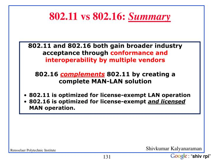 802.11 vs 802.16: