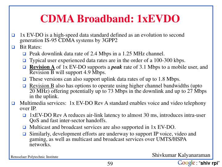 CDMA Broadband: 1xEVDO