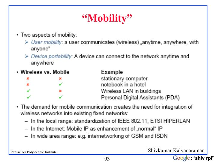 """""""Mobility"""""""
