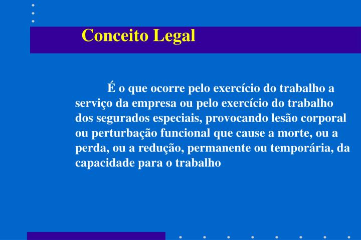 Conceito Legal
