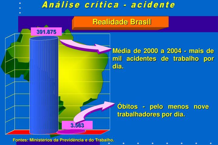 Análise crítica - acidente