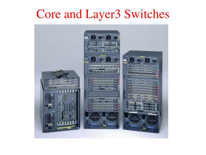 Core and Layer3 Switches