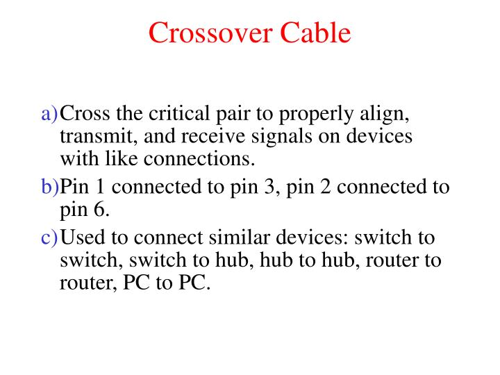 Crossover Cable