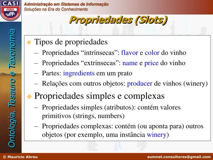 Tipos de propriedades