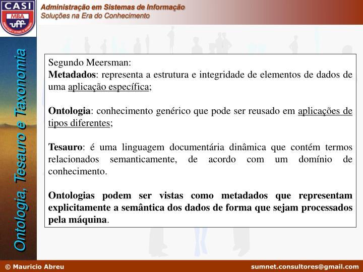 Segundo Meersman: