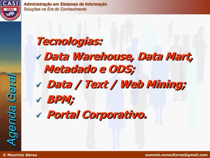 Tecnologias: