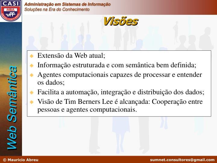 Extensão da Web atual;