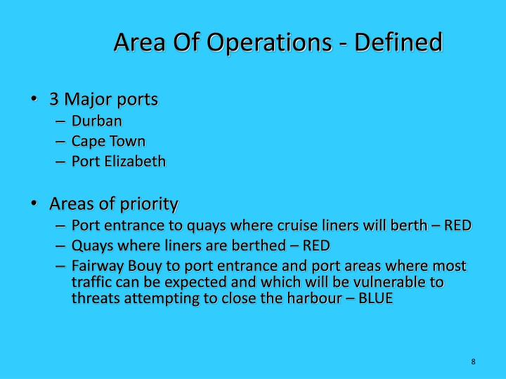 Area Of Operations - Defined
