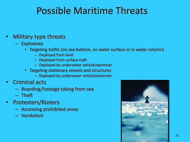 Possible Maritime Threats