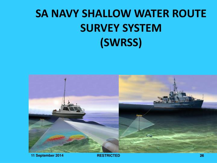 SA NAVY SHALLOW WATER ROUTE SURVEY SYSTEM