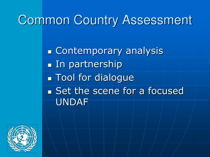 Common Country Assessment