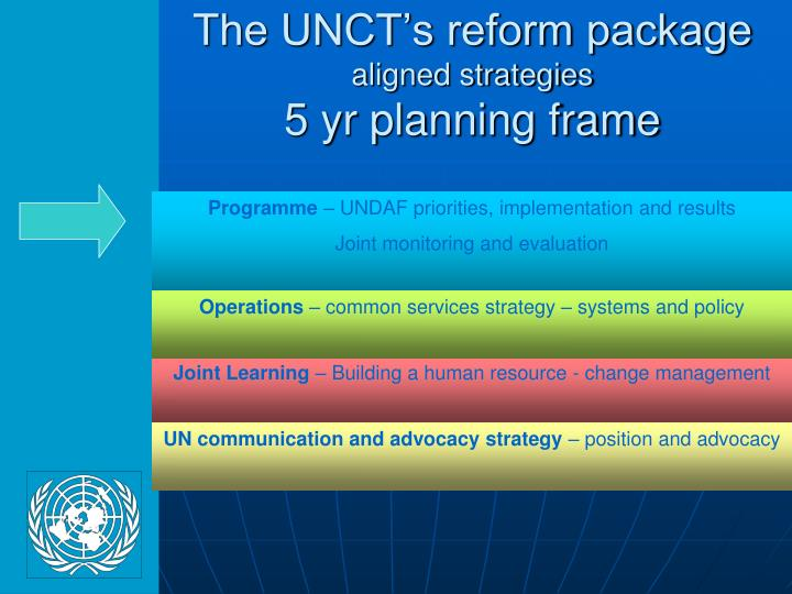 The UNCT's reform package