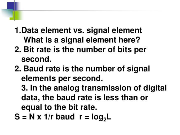 Data element vs. signal element