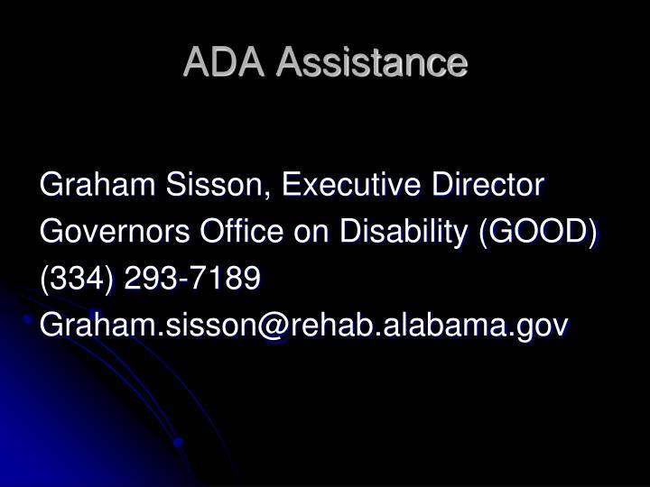 ADA Assistance