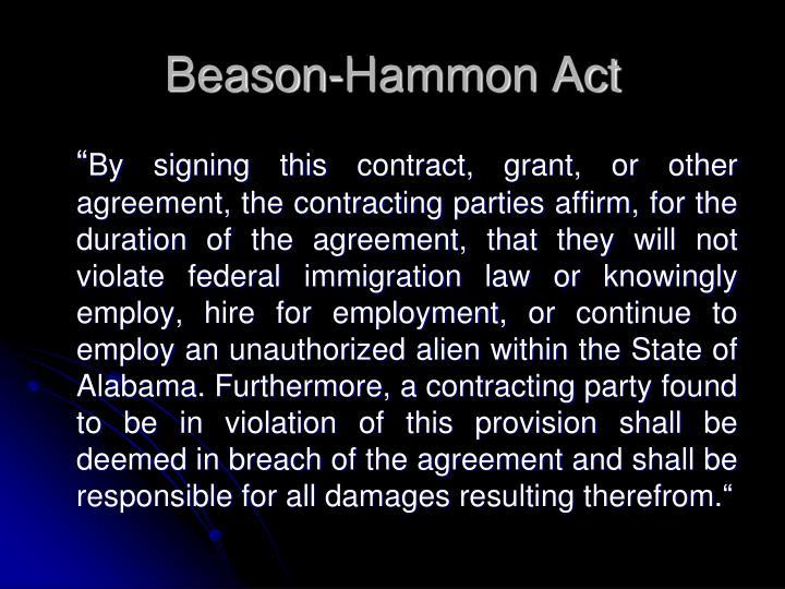 Beason-Hammon Act