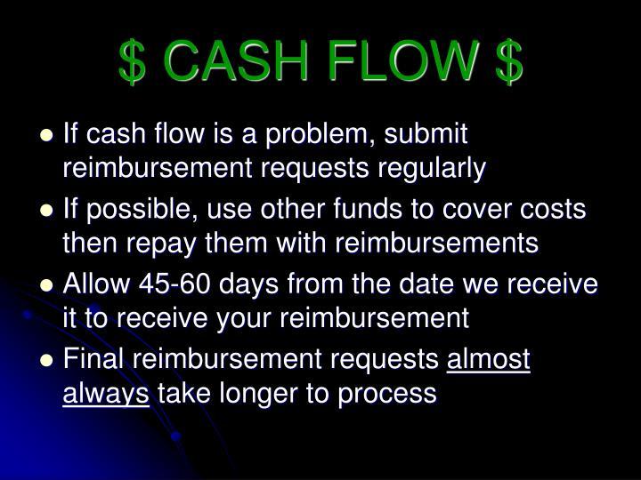 $ CASH FLOW $