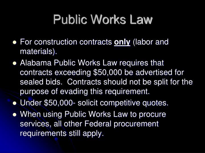 Public Works Law