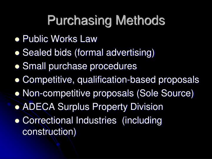 Purchasing Methods