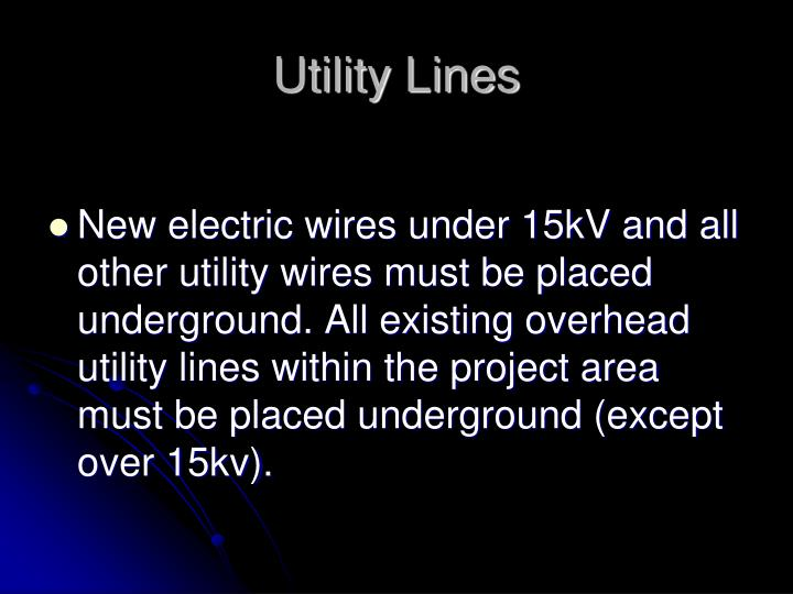 Utility Lines